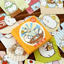 46pcs/pack Cute Rabbit Stickers Kawaii Planner Notes Memo Pads Sticky Stat UKYQ