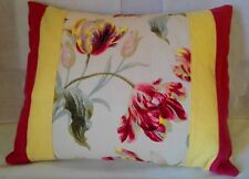 Laura Ashley Gosford floral cranberry Austen bolster Cushion Covers 16 x20''  BN