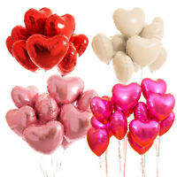"5pcs 18"" Love Heart Foil Helium Balloons Wedding Party Birthday Decoration UK"