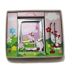 Set Hello Kitty 456HK/3C Cronice Laminata in Argento con Collana Ciondolo Cuore