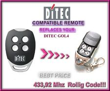 Ditec GOL4 compatible remote control / replacement transmitter 433,92Mhz