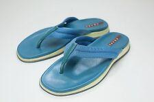 Prada 6 Blue Flip Flop Sandals Women's