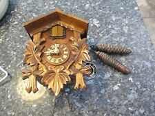Engstler Black Forest Cuckoo Clock - Contemporary Hand Carved - Parts Only