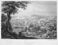 Missouri SAINT ST. JOSEPH CHURCH COURTHOUSE TOWN HALL ~ 1855 Art Print Engraving