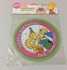 The Simpsons Wilton Happy Birthday Cake Decoration Cake Topper NIP 1990