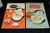 2 Vtg  SUNBEAM Mixmaster, 1957, Recipe Cookbooks, Plus Ads of Other Products
