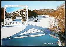 Latvia Souvenir Sheet - Gauja River Bridge, Sigulda_2003 - MNH.