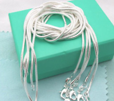 Wholesale Lots 3Pcs 925 Solid Silver Squared Snake Chain Necklace 30 inches AAA