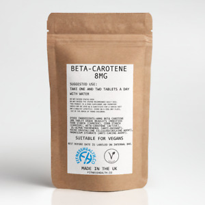Beta-Carotene Tablets Eye & Skin Care Improved cognitive Immune function by FH