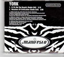 (FM460) York, O.T.B. (On The Beach) - 2000 DJ CD