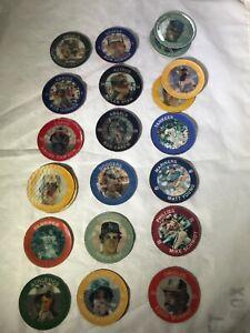 1985 7-11 Slurpee Disc Coins Baseball Lot of 21 Rickey Henderson Variation +More