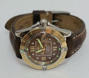 Breitling Cockpit Lady Diamonds Dial Brown Stunning