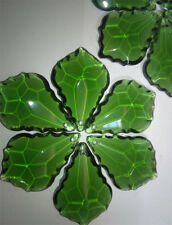 10pcs 38mm Green Maple Leaf Crystal Prisms Chandelier Pendant Home Party Decor