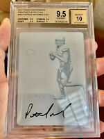 2017 Panini Contenders Cyan Plate 1/1 Patrick Mahomes BGS 9.5 Gem RC Auto Chiefs