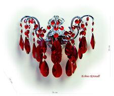 cristal lustre de mur avec rouge, vert sans mauve cristaux crsital véritable