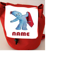 Iggle Piggle Personalised Childs Small Canvas Rucksack