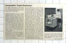 1966 Rank Xerox Develop Copier Duplicator, 2400 Copies Per Hour