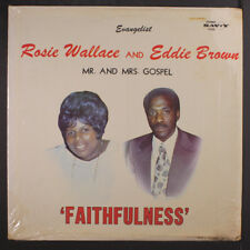 ROSIE WALLACE & EDDIE BROWN: Faithfulness LP (some h2o damage on cover)