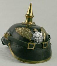 Leder Pickelhaube Preussen Garderegiment Kaiserreich Reenactment sca ungetragen