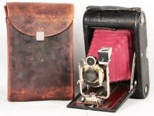 Antique 1906 Eastman Kodak No.4 Model A Folding Camera w/Case Bausch&Lomb Lens