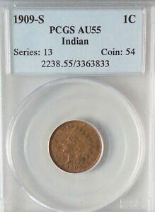 1909-S Indian Cent PCGS AU55  #PJ616
