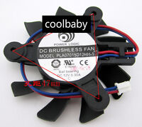 PLA07015D12HH-1 Graphics card cooling fan DC12V 0.3A 2Pin