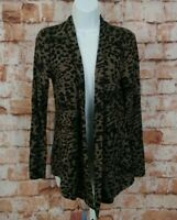 Soma Live Lounge Wear Luxuriously Soft Leopard  Print Cardigan Size Small