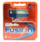 Genuine Gillette Fusion Razor Blade Refills Cartridges 1, 4 , 8, 16,or 24 Blades