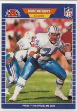 1989 ProSet Bruce Matthews Houston Oilers Rookie Card #148 NM RC HOF
