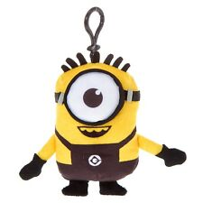 Despicable Me Happy Minion Plush Key Ring Keychain Backpack Licensed