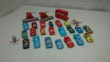 Disney Pixar Cars Diecast & Plastic Lot of 26 Cars, Bus, Combine, Plane