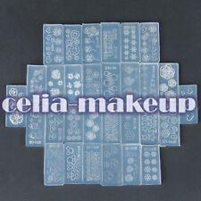 30pcs DIY Nail Art Tips 3D UV Gel Acrylic Powder Silicon Mould Set Design Kit
