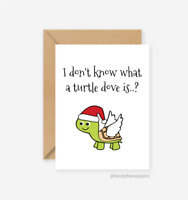 Funny Christmas Card  / Turtle Dove / Friends of Henry / Christmas Cards