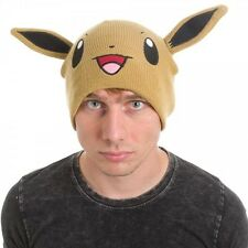 OFFICIAL POKEMON EEVEE BIG FACE WITH EARS BEANIE HAT (BRAND NEW)