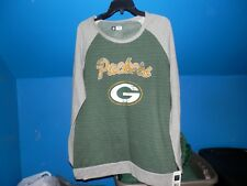 GREEN BAY PACKERS WOMEN'S  LONG SLEEVE SWEAT SHIRT SIZE LARGE NWT NFL  AUTHENTIC