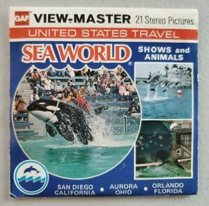 Viewmaster H82 Sea World Shows and Animals 3 Reels GAF United States Travel