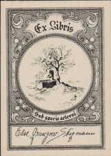 Else Granzow Stegmann. Denmark. Eggert Linstow.   Bookplate   Ri.672