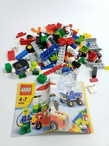 LEGO 5898 Cars Building Set Gas Station  2 Minifigure with Instructions USED