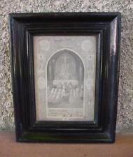 PETIT CADRE NAPOLÉON III AVEC SOUVENIR DE PREMIÈRE COMMUNION 23,5 x 18,5 cm.
