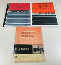 Massey Ferguson Mf 175 Tractor Service Operators Parts Manual Workshop Set Mf175