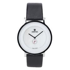 Croton Women's CN307576SSMP Quartz MOP Dial Black Leather Strap 42mm Watch