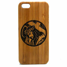 Jesus Christ Case for iPhone 5 5S SE Bamboo Wood Cover Christian Cross Crucifix