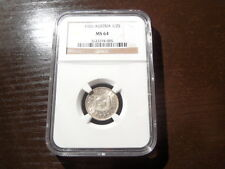 NGC Single Highest Graded 1926 Austrian Silver 1/2 Shilling!!!