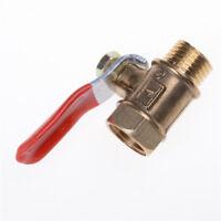 1/4'' M/F Full Port Inline Brass Water Air Gas Fuel Line Shut-off Ball Valve Pop