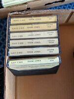 6 Isham Jones CASSETTE TAPE LOT SET 1-6 AJAX AJAZZ RARE RECORDINGS big band jazz
