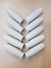 5 X Standard Handle bar grip rubber bsa triumph norton ajs 7/8 White *WHOLESALE