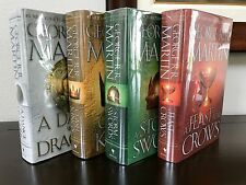Game of Thrones 4 Book Hardcover Set - George R.R. Martin - Fine/Fine condition