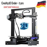 Creality3D Ender - 3 pro 3D Drucker Printer DIY Kit Steel Frame LCD Display 110°