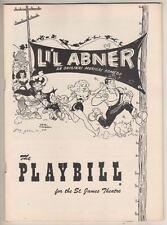 "Al Capp  ""L'il Abner""  Playbill  1956  Broadway  Stubby Kaye, Charlotte Rae"