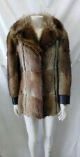 giacca jacket  vera pelle e pelliccia cappotto donna taglia 44